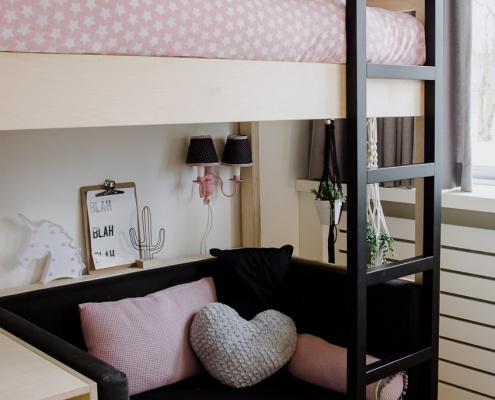 bed kinderbed jm interieurbouw weert limburg maatwerk slaapkamer kinderkamer hoogslaper verwarmingsombouw